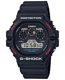 G-Shock Men's Digital Black Resin Strap Watch 51.4mm