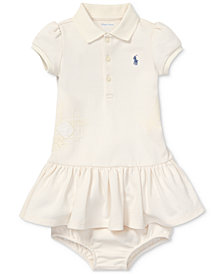 Polo Ralph Lauren Baby Girls Flag Polo Cotton Dress