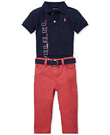 Polo Ralph Lauren Baby Boys Mesh Polo & Jeans Set