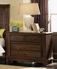 Amelia Rustic Two-Drawer Nightstand