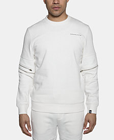 Sean John Men's Moto Zip Accented Sweatshirt