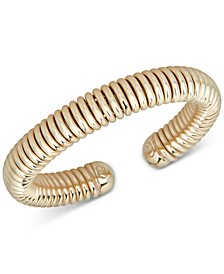 Wire Cuff Bangle Bracelet in 14k Gold-Plated Sterling Silver