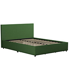 Novogratz Kelly Upholstered Queen Bed with Storage
