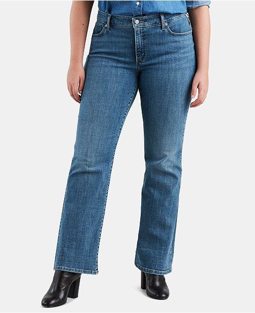 164882aa95a Levi s Plus Size 415 Classic Bootcut Jeans   Reviews - Jeans - Plus ...