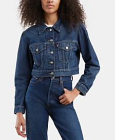 Levi's® Cropped Denim Trucker Jacket