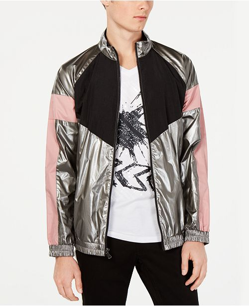 INC International Concepts I.N.C. Men's Colorblocked Track Jacket, Created for Macy's