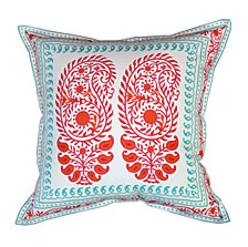 Edie@Home Oversized Paisley Outdoor Pillow