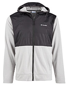 Columbia Mens Hybrid Zip-Front Hooded Jacket