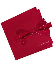 Tommy Hilfiger Men's Bow Tie & Pocket Square Set