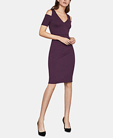 BCBGMAXAZRIA Anah Cold-Shoulder Ponté-Knit Bodycon Dress