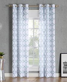 No. 918 Barkley Trellis Semi-Sheer Grommet Curtain Panel Collection