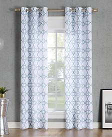 Lichtenberg No. 918 Barkley Trellis Semi-Sheer Grommet Curtain Panel Collection