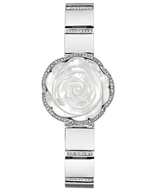 Women's Crystal Silver-Tone Bangle Bracelet Watch 24mm