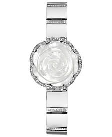 Anne Klein Women's Crystal Silver-Tone Bangle Bracelet Watch 24mm