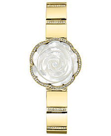 Anne Klein Women's Crystal Gold-Tone Bangle Bracelet Watch 24mm