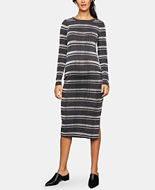 A Pea In The Pod Maternity Striped Midi Dress
