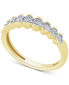 Diamond Scalloped Band (1/5 ct. t.w.) in 10k Gold