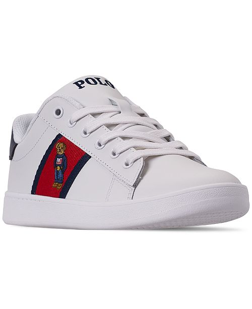 c96ee4ae5 ... Polo Ralph Lauren Boys  Quilton Bear Casual Sneakers from Finish Line  ...