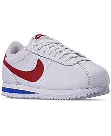 Men's Cortez Basic Leather OG Casual Sneakers from Finish Line