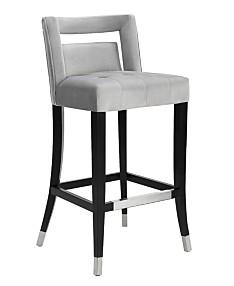 Swell Blue Metal Bar Stools Counter Stools Macys Machost Co Dining Chair Design Ideas Machostcouk