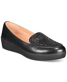 FitFlop Crystal Platform Loafers