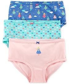 Carter's Little & Big Girls 3-Pk. Princesses & Hearts Printed Underwear