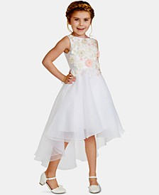 Little Girls Floral Mikado Dress