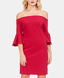 Vince Camuto Off-The-Shoulder Bell-Sleeve Dress