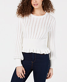 The Fifth Label Cotton Ruffled Pointelle Sweater