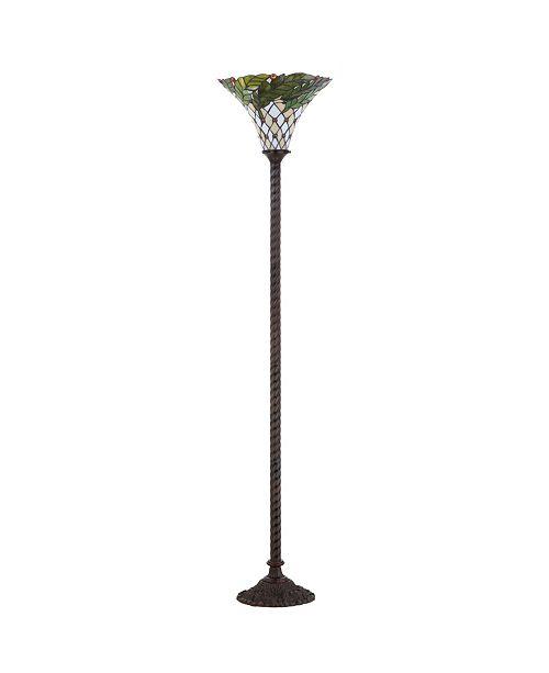 JONATHAN Y Botanical Tiffany-Torchiere Led Floor Lamp