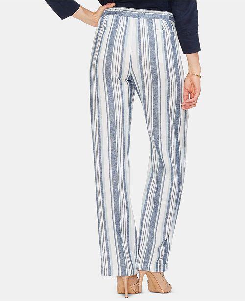 893da3796a Vince Camuto Beach Stripe Linen Drawstring Pants & Reviews - Pants ...