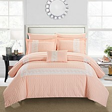 Titian 8 Piece King Bed In a Bag Comforter Set