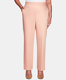 Alfred Dunner Good To Go Pull-On Back-Elastic Waist Pants