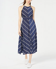 Maison Jules Chevron-Print Maxi Dress, Created for Macy's