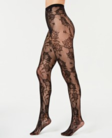 I.N.C. Floral Lace Tights, Created for Macy's