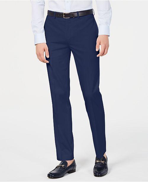 Calvin Klein Men's Slim-Fit Performance Stretch Wrinkle-Resistant Solid Dress Pants