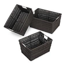 3-Pc. Rattique Storage Baskets