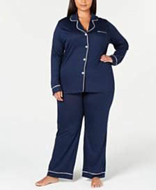 Cosabella Bella Plus Size Contrast-Trim Pajama Set AMORE9641P, Online Only