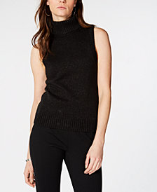 MICHAEL Michael Kors Glitter Turtleneck Top, in Regular and Petite Sizes