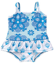 Masala Baby Baby Girl's Ruffled One Piece India Rose