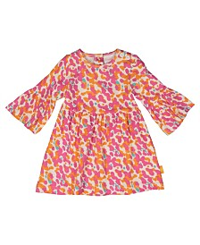 Masala Baby Organic Cotton Baby Girl's Girl Simple Dress Spotted