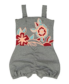 Masala Baby Baby Girl's Floral Playsuit Heather