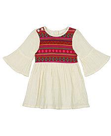 Masala Baby Baby Girl's Simple Dress Jacquard