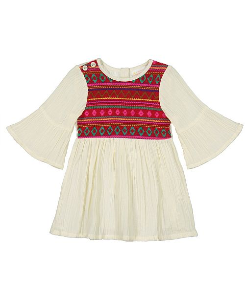 6d04da0f2dab0 Masala Baby Baby Girl s Simple Dress Jacquard   Reviews - Dresses ...