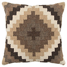 """Rizzy Home 20"""" X 20"""" Southwest Pillow Cover"""
