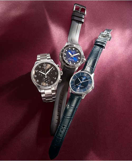 194007184 ... Tissot Men's Swiss Automatic Seastar 1000 Powermatic 80 Black Rubber  Strap Watch ...
