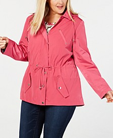 Plus Size Water-Resistant Utility Jacket, Created for Macy's