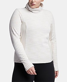 Nike Plus Size Pro Hyperwarm Mesh-Inset Top