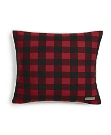 Eddie Bauer Cabin Plaid Red Square Pillow