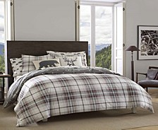 Alder Plaid Charcoal Full/Queen Duvet Set